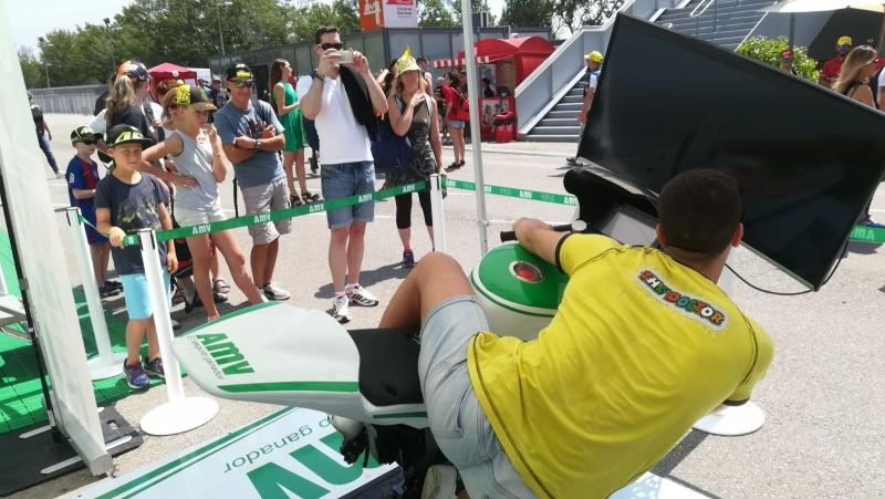 Acudimos al Gran Premio de moto GP con el simulador de CKU28